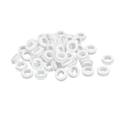 Rubber Ring Sealing Grommet Electrical Wiring Gasket White 9mm Inner Dia 50pcs