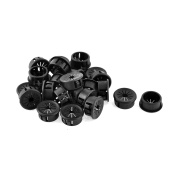 26pcs 22mm Mounting Dia Black Cable Pipe Snap Bushing Protector Grommet Harness