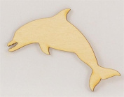 Package Of 10, Dolphin Wood Cutout 10cm X 7cm Easy To Paint Or Decorate To Give Craft Project Unique Look