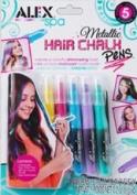 Alex Spa Metallic Hair Chalk Pens 5 Colours