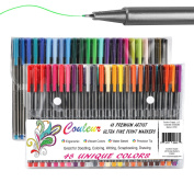 Fine Line Markers, 48Ct Fine Tip Washable Markers, Assorted Colours, Perfect Art Markers for Kids and Adult Colouring Books – Comes with Convenient Carry Case!!