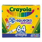 Pip-Squeaks Skinnies Washable Markers, 64 Colours, 64/set