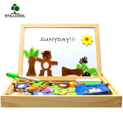 StillCool Wooden Educational Toys Magnetic Art Easel Animals Puzzle Games for Boys Girls