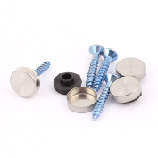 Unique Bargains 4 Pcs Fixed Mirror Nail Pad Decorative Fasteners Billboard Studded 12mm Diameter