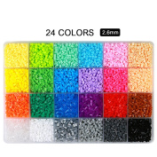 Fuse Beads Kit,ITOY & IGAME Fuse Beads 0.3cm 24 Colours 12000pcs Fuse Beads Multi-Colour Fun Fusion Beads Children DIY Craft Toys with 5 Ironing Paper,2 Tweezers and Template