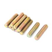 1mm Pitch M6 x 25mm Male Threaded All Thread Rod Bar Stud Bronze Tone 10 Pcs
