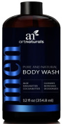 ArtNaturals Men's Natural Body Wash – 473ml – Shower Gel that Cleanses, Refreshes and Deodorises – with Aloe Vera, Shea Butter, Essential Oils and Cocoa Butter