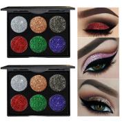 Glitter Eyeshadow Powder,VNEIRW 12 Colours+Shimmer Cosmetic Makeup Eye Shadow Eyeshadow Palette Set