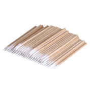 KaloryWee 100Pcs Pointed Cotton Swabs Wooden Handle Makeup Health Medical Ear Jewellery Clean Sticks Buds Tips