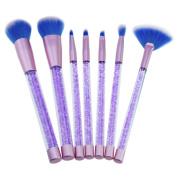 Make up Brushes,   7 PCS   Cosmetic Makeup Brush Lip Makeup Brush Eyeshadow Brush, Quicksand Crystal Diamond Make-up Brush
