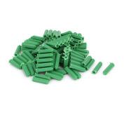 Unique Bargains6mm x 25mm Plastic Masonry Screws Fixing Wall Anchor Green 100pcs