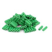 Unique Bargains8mm x 25mm Plastic Masonry Screws Fixing Wall Anchor Green 100pcs