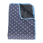 Baby Play Mat with Waterproof Backing - Navy