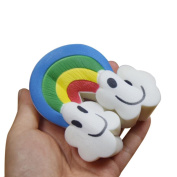 JoyJay Exquisite Colossal Squeeze Stress Reliever Soft Rainbow Clouds Doll Scented Slow Rising Toys Gift