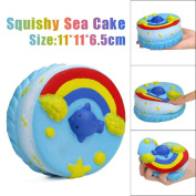 JoyJay Exquisite Colossal Squeeze Stress Reliever Soft Sea Cake Cream Doll Scented Slow Rising Toys Gift