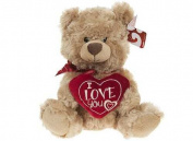 "Valentines Teddy Bear Soft Plush Toy With I Love You Heart 20cm 8"" Gift"