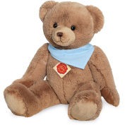 Teddy Hermann 913108 Teddy with Cloth Soft Toy, Caramel/Brown, 50 cm
