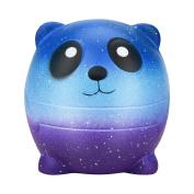 Singular-Point 6cm Squishy Mini Cartoon Galaxy Panda Scented Charm Slow Rising Squeeze Toys