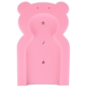 Baby Teddy Bear Bath Sponge Support Seat Chair Foam Lay Down Mat - Infant Tub Toddler From Newborn 0 Months - Pink