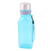 sourcingmap Plastic Home Exercise Water Juice Tea Milk Coffee Drinking Holder Bottle Blue