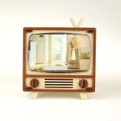 DIY Walnut and Maple Retro TV Set,Desk Decoration,Cellphone Screen Magnifier