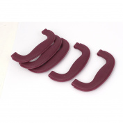 Furniture Cabin Drawer Box Plastic Bowing Pull Handle Knob Dark Purple 5pcs