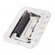 Unique Bargains Plastic Coated Grip Metal Spring Loaded Recessed Flush Door Drawer Handle Puller