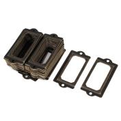 Unique Bargains 70mmx33mm Office Drawer Cabinet Label Pull Holder Frame Bronze Tone 50pcs