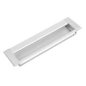 Metal Rectangular Flush Pulls Drawer Cabinet Cupboard Sliding Door Handle