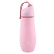 sourcingmap Plastic Water Bottle Cup Portable Driking Mug Canteen Kettle 650ml Pink