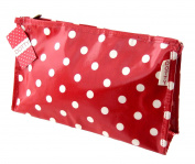 Red Dotty Oilcloth Wash Pouch
