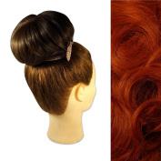 Clip In Drawstring Hair Bun - Big Round #130 Copper Red