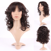 Wigs for Women Long Heat Resistant Synthetic Hair Full Wigs Natural Daily Costume Anime 24cm Dark Brown