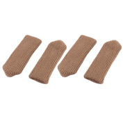 Furniture Anti-skid Chair Desk Leg Table Foot Protector Cover Coffee Colour 4pcs