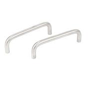 Cabinet Drawer Dresser Door 105mm Long U-Bar Pull Handle Knob Silver Tone 2pcs