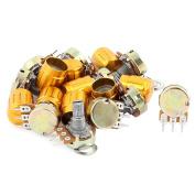 10Pcs B5K ohm 3Terminal Split Rotary Linear Single Taper Potentiometers w Knob