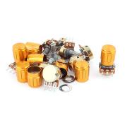 Top Adjustment Split Knurled Shaft Potentiometers WTH 148 B2K Ohm 10pcs w Knob