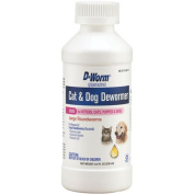 D-Worm Liquid for Kittens, Cats, and Dogs, 240ml