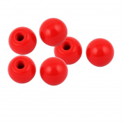 Unique Bargains 6 Pcs M10 Thread Round Plastic 35mm Diameter Ball Knob Handle Red
