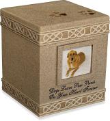 AngelStar 15cm Pet Urn for Dog, Dark Brown