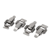 Unique Bargains Cabinet Suitcase Spring Loaded Metal Straight Loop Catch Toggle Latch 4 Pcs