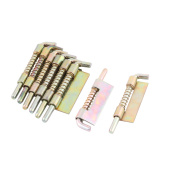 Cafe Stainless Steel Furniture Gate Spring Latch Colourful 7.1cm Length 8 Pcs