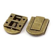 Guitar Case Suitcase Jewellery Box Drawbolt Closure Latch Bronze Tone 2PCS