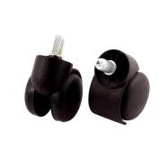 Office Chair Grip Ring Stem Swivel Twin Caster Wheel 2PCS