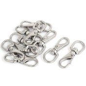Unique Bargains 4mm Thickness Stainless Steel Swivel Eye Lobster Snap Clasp Hook 10 Pcs