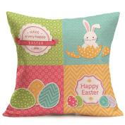 Oyedens Easter Egg Bunny Throw Pillow Case Sofa Cushion Cover Festival Home Decor