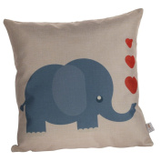 Nunubee Cushion Covers Flax Throw Pillow Covers 45x45 CM Pillow Cases for Couch Sofa Home Decor Elephant