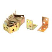 Unique Bargains 25mmx25x16mm 4 Holes Metal Corner Brace Joint Right Angle Bracket Support 20pcs
