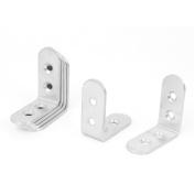 Unique Bargains 47mmx47mmx20mm Stainless Steel Corner Angle Joint Bracket Brace Fastener 6pcs