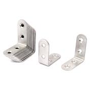 Unique Bargains 41mmx41mmx17mm 4 Holes Shelf Corner Brace 90 Degree Angle Bracket 12pcs